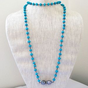 Jewelry - Turquoise Beaded Wrap Necklace